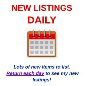 LISTING DAILY!!  Lots of new items to list.